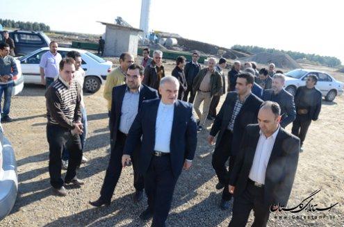 بازديد استاندار گلستان از سد آقدكش شهرستان آق قلا