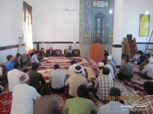 جلسه هم اندیشی توزیع آب دهستان کنگور شهرستان کلاله برگزار شد
