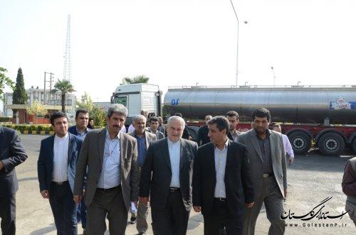بازدید استاندار گلستان از شرکت شیر پاستوریزه پگاه گلستان