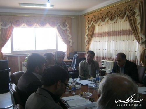 جلسه بررسی مشکلات خطوط ریلی در شهرستان ترکمن برگزار شد