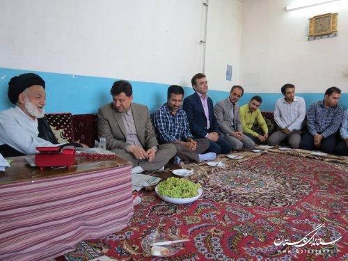دیدار فرماندار و مسئولین با امام جمعه گالیکش در نخستین روز هفته دولت