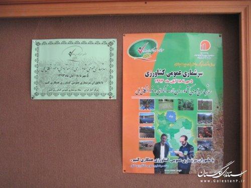 برنامه های روز شمار ستاد سرشماری عمومی کشاورزی شهرستان کردکوی به اجرا درآمد
