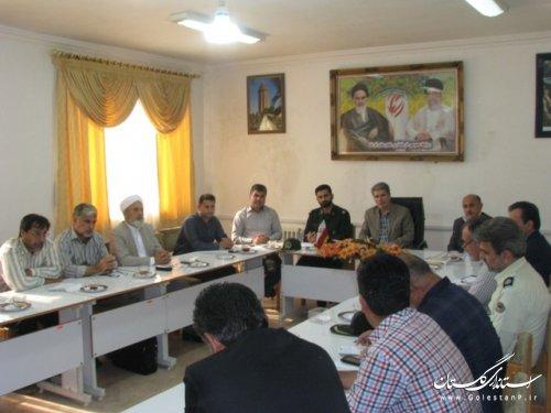 تشکیل  شش کمیته برای برگزاری باشکوه برنامه های هفته دفاع مقدس درشهرستان آق قلا
