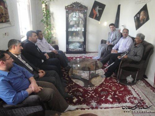 دیدار فرماندار رامیان با سه خانواده شهید و جانباز جنگ تحمیلی