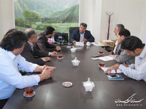 جلسه بررسی مشکلات مسکن مهر رامیان برگزار شد