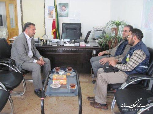 بازدید مدیر کل آمار استان از شهرستان مراوه تپه