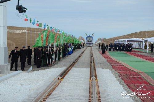 مراسم افتتاح راه آهن ایران، ترکمنستان، قزاقستان با حضور رؤسای جمهوری سه کشور
