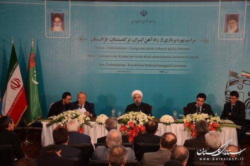 روحانی: امروز، روزی تاریخی برای ایران، ترکمنستان و قزاقستان است