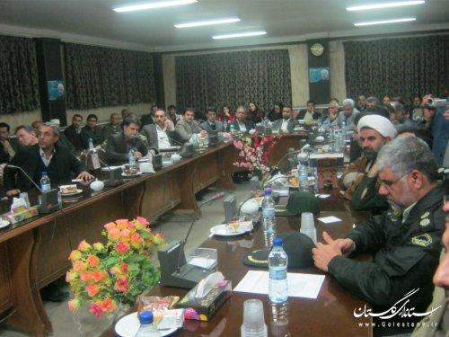 با حضور معاون رئیس جمهوری، جلسه شورای اداری بندرترکمن برگزار شد