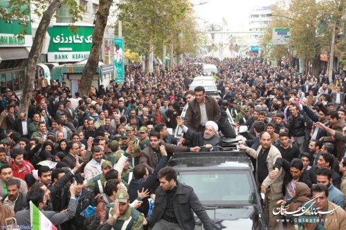 قدردانی از استقبال پرشور، آگاهانه و صمیمانه مردم استان گلستان از کاروان تدبیر و امید