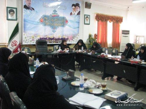 برگزاری جلسه کار گروه تخصصی بانوان در فرمانداری علی آباد کتول