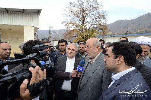 وزیر نیرو و استاندار گلستان از سد نرماب بازدید کردند