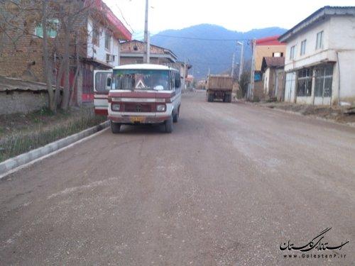 اجرای فاز اول طرح هادی روستای محمدآباد کتول