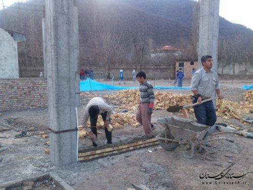 ساخت مدرسه 6 کلاسه در محمد آباد کتول توسط خیر مدرسه ساز