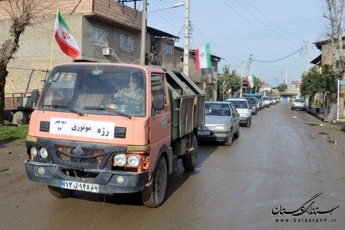 رژه موتوری بمناسبت ورود تاریخی امام (ره) به میهن، در توران فارس برگزار شد