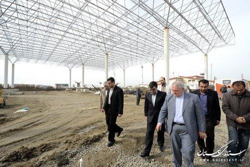بازدید استاندار گلستان از پروژه ترمینال بین المللی فرودگاه گرگان
