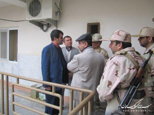 بازدید مدیرکل امور مرزی و پدافندغیرعامل وزارت کشور از پاسگاههای مرزی گمیشان