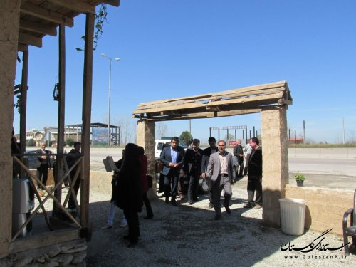 بازدید مدیر کل امور روستای از کمپ نوروزی روستای گز شرقی