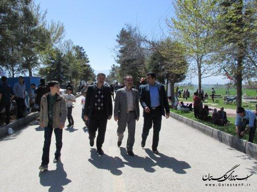 بازدید مدیر کل امور روستایی از کمپ نوروزی روستای هاشم آباد