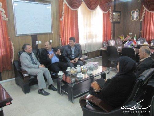 دیدار مدیر کل جدید کتابخانه های عمومی استان گلستان با فرماندار گمیشان