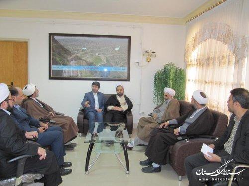 دیدار فرماندار کلاله با رئیس مرکز بزرگ اسلامی و مدیرکل تبلیغات اسلامی استان