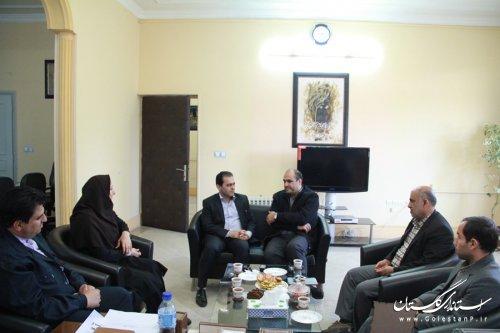 مدیر کل کتابخانه های عمومی استان گلستان با فرماندار گرگان دیدار کرد