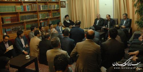 دیدار معاون امور تعاون وزارت تعاون،کار و رفاه اجتماعی با نماینده ولیفقیه در گلستان