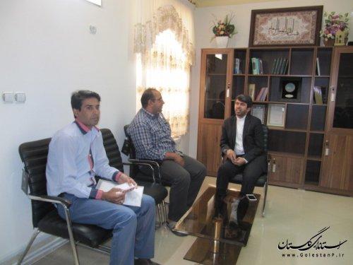 دیدار فرماندار کلاله با شهروندان و مراجعه کنندگان برگزار شد