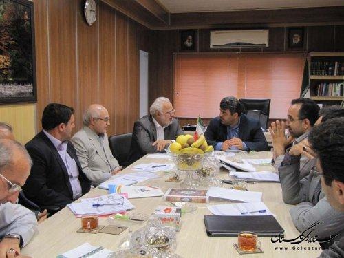جلسه بررسی عملکرد شرکت گاز استان در شهرستان رامیان