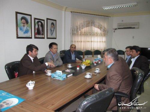 دیدار فرماندار کلاله با رئیس دانشگاه پیام نور استان