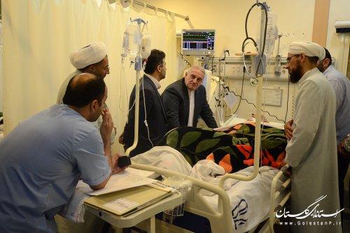 عیادت استاندار گلستان از حاج یار محمد آخوند نظری