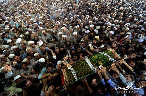 حضور استاندار گلستان در مراسم تشییع پیکر مرحوم آخوند نظری