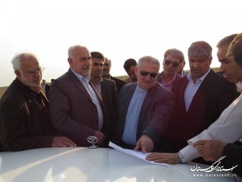 بازدید استاندار گلستان و مدیرعامل نفت خزر از محل اجرای پروژه اکتشاف نفت و گاز