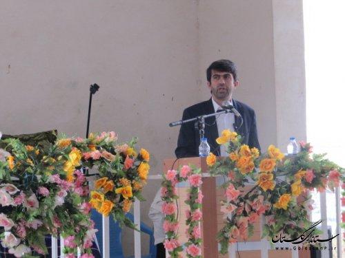 سخنرانی فرماندار کلاله در نماز عید فطر شهرستان