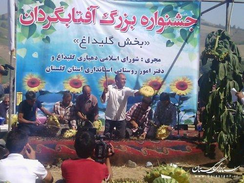 برگزاری جشنواره بزرگ آفتاب گردان در روستای گلیداغ مراوه تپه