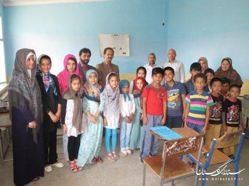 بازدید معاون فرماندار ترکمن ازکلاسهای تابستانه طرح اوقات فراغت کمینه امداد امام خمینی (ره)