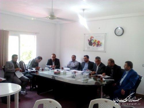جلسه معاونین فرمانداران استان گلستان در علی آباد کتول