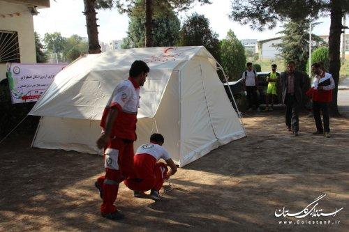 سنجش بیش از 800 نفر از نجاتگران جمعیت هلال احمر استان گلستان