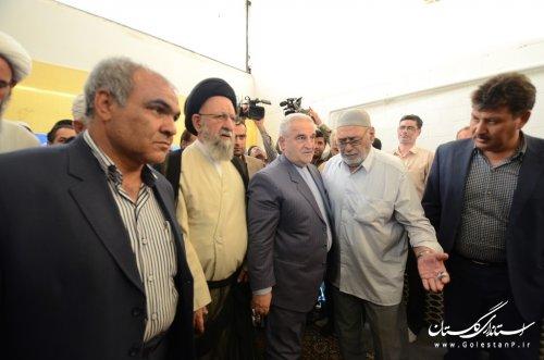 دیدار استاندار گلستان با خانواده جان باختگان حادثه منا در بندر ترکمن