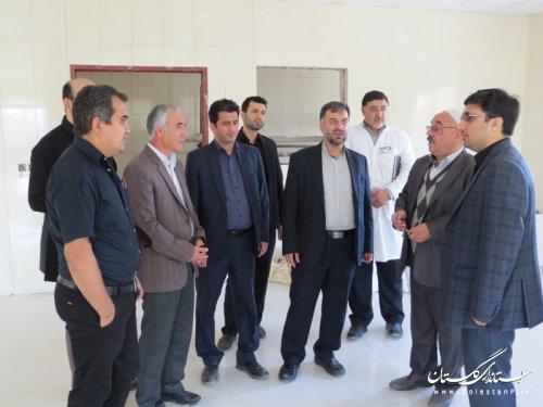 بازدید مسئولین وزارت بهداشت از توسعه بخش هاي ويژه بيمارستان آل جلیل آق قلا