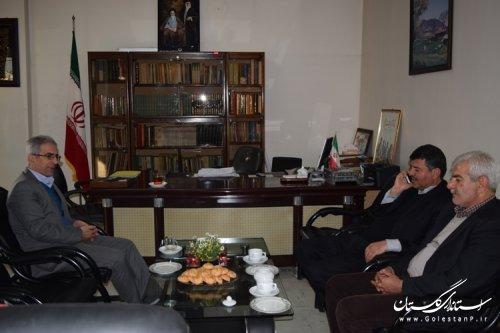 دیدار رئیس سازمان جهاد کشاورزی استان با فرماندار کردکوی