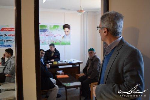 بازدید فرماندار کردکوی از محل ثبت نام نامزدهای انتخابات مجلس شورای اسلامی