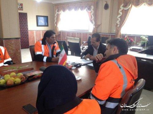 دیدار سرپرست فرمانداری ترکمن با پرسنل راه و شهرسازی شهرستان