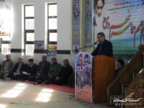 فرماندار مینودشت: در روز 9 دی ملت ایران با بصیرت خود دشمن را مایوس کرد