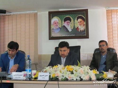جلسه دهیاران و شوراهای بخش مرکزی شهرستان گالیکش