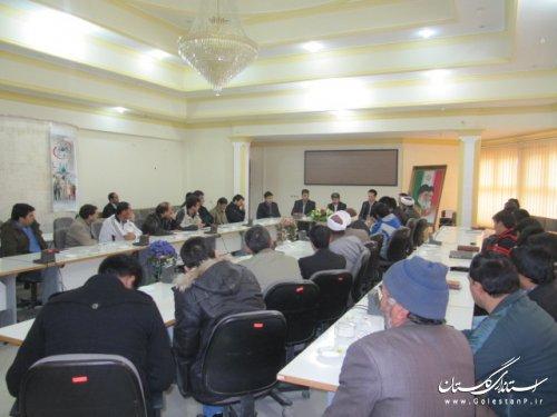 گردهمایی دهیاران شهرستان کلاله با حضور فرماندار برگزار شد
