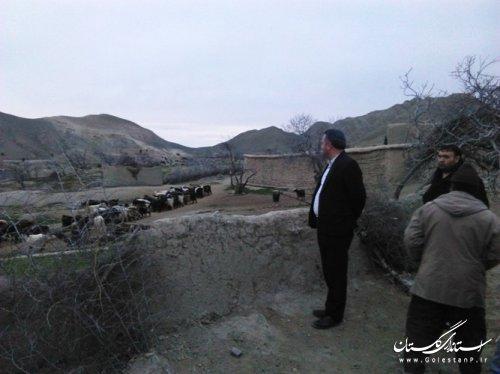 بازدید فرماندار مراوه تپه از روستای انجیرلی بخش مرکزی