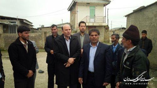 بازدید فرماندار شهرستان ترکمن از روستای محمد آباد بخش مرکزی
