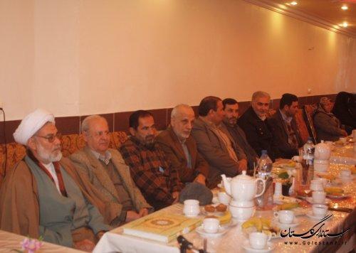 نشست معاون استاندار با زندانیان سیاسی قبل از انقلاب در گرگان