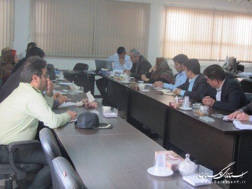 اولین جلسه مناسب سازی محیط و مبلمان شهری در گنبدکاووس